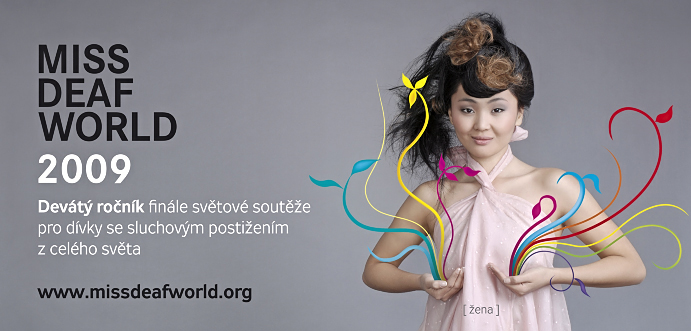 Reklamní Fotografie Miss Deaf World Návrh Billboard