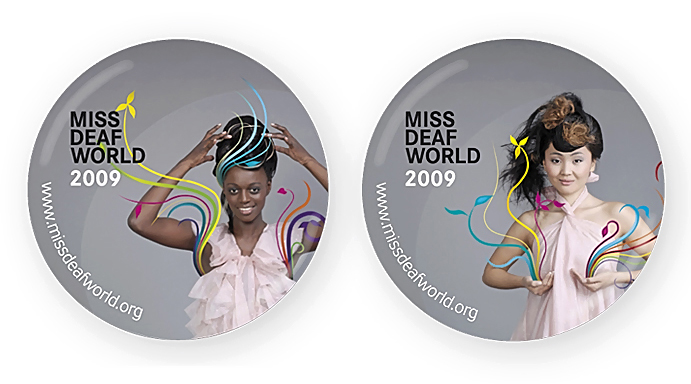 Reklamní Fotografie Miss Deaf World Placky